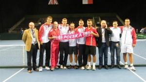 Z reprezentacją polski w meczu Davis CUP z Wielką Brytanią
