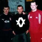 Z mistrzami boksu, Krzysztofem Kosedowski i Węgrem Koko Kovaczem